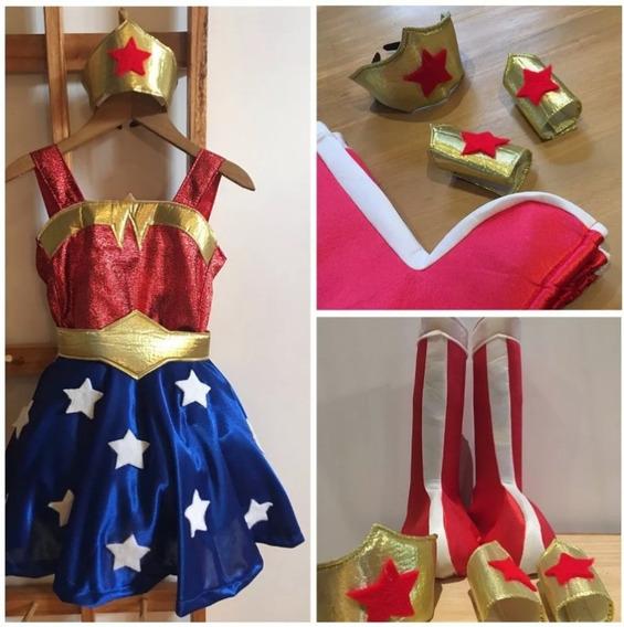 Disfraz Mujer Maravilla Wonder Woman Niñas Dc Superhero Girl