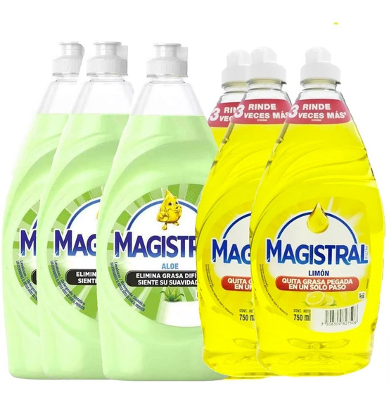 Pack 6 Lavaloza Magistral 750ml (3 Limon + 3 Aloe)