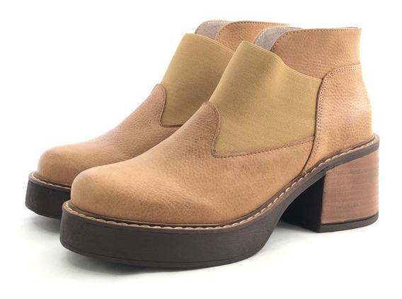 Penélope 2313 Borcego Cuero Cómoda El Mercado De Zapatos!