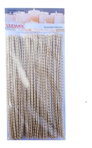 Pabilos Encerado 100 Alma Algodón 20cm #32 Veladora Quematic