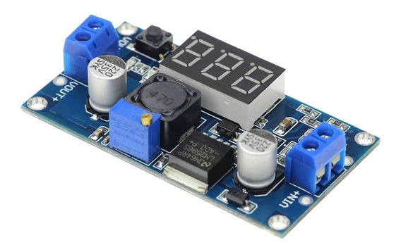 Regulador De Tensão Ajustável Lm2596 Dc-dc Display Step Down