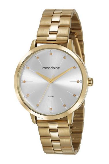 Relógio Mondaine Feminino Dourado 53659lpmvde1 - Frete Grátis E Garantia De 1 Ano
