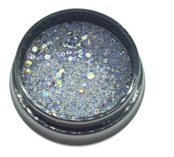 Caviar Y Strass Deco Nail Art