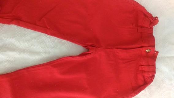 Calça Lilica Vermelha Tamanho 8, Seminova