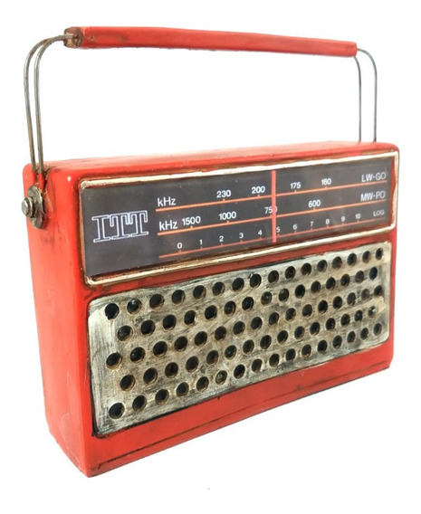 Radio Antigua Retro Vintage Decoracion Itt Pony 18a Años 70