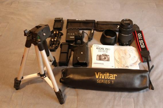 Canon Eos 70 D Completa Com Acessorios Completa