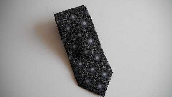 Corbata Versace Gris Con Negro