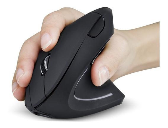 Mouse Vertical Sem Fio Recarregavel 2.4 Ghz Ergonomico