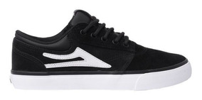 Tênis Lakai Griffin Sd Black /white Suede 11217 Original