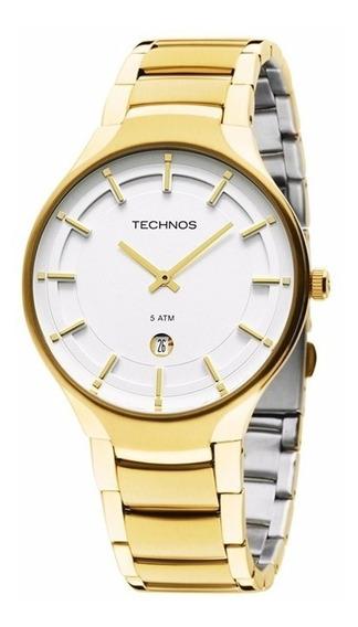 Relógio Technos Masculino Classic Slim Gm15al/4b