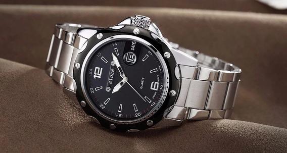 Relógio Preto Pulso Masculino Analógico Quartzo Biden Barato