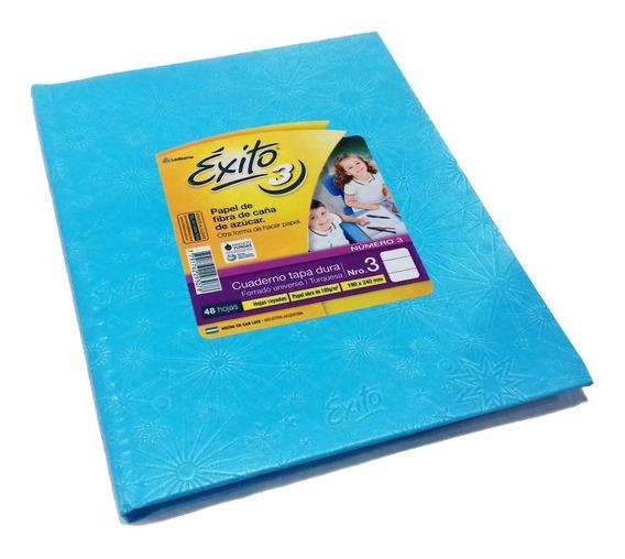 Cuaderno Exito Universo 3 Tipo Abc Turquesa Rayado 19x24cm