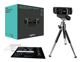 Camara Web Logitech C922 Full Hd 1080 + Tripode Profesional