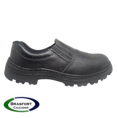 Sapato Elastico Segurança Couro Bico Pvc E Ca (3 Pares)