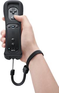Control Remoto Wii Y Wii U Color Negro + Forro + Cordón !