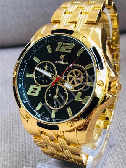 Relógio Masculino Potenzia Varias Cores Exclusivo + Caixa.