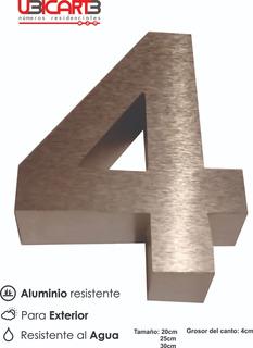 Números Residenciales 3d En Aluminio En 3d 20cm Alto