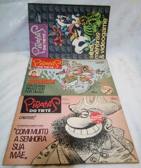 Lote Revistas Laerte Piratas Do Tietê 1,2 E 4