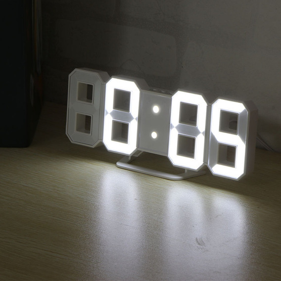 Reloj 3d Led Digital De Pared Con Alarma