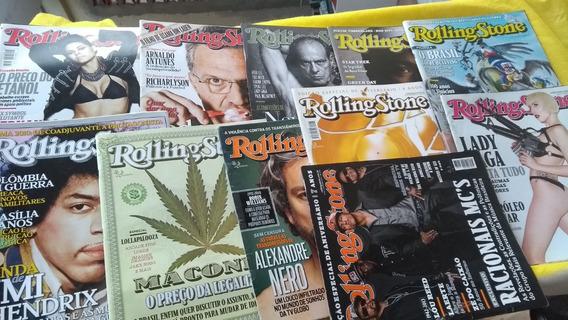 Rolling Stone Lote Fechado 11 Revistas Complete Sua Coleção
