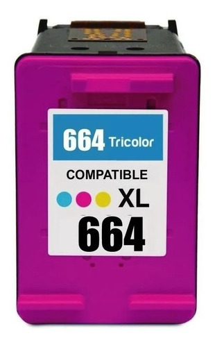 Imagen 1 de 4 de Cartucho Alternativo 664xl Tricolor 1115 2135 3635 3787 3789