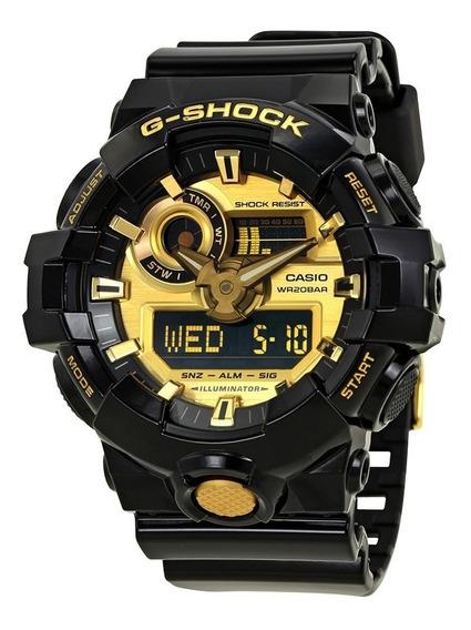 Relogio Masculino G-shock Casio Original Gold-tone Dial Blac