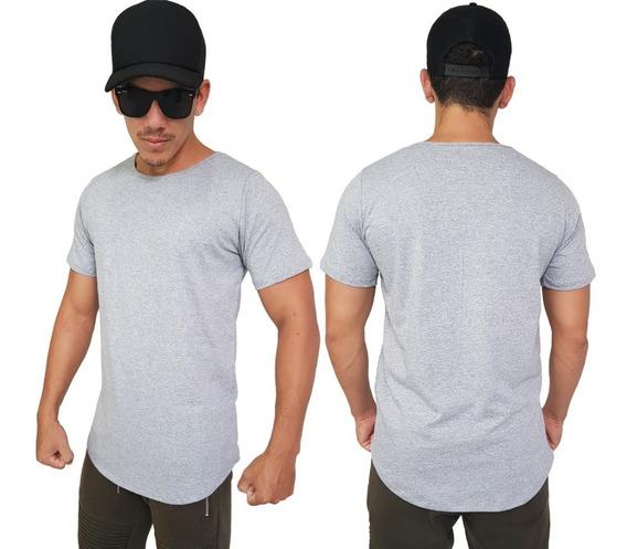 Kit C/4 Camisas Blusas Longline Oversizer Swag Varias Cores
