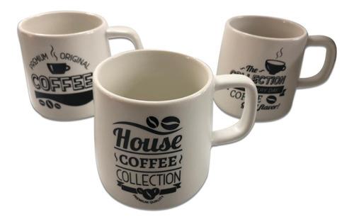 Taza Mug Ceramica Diseño Coffee 300 Ml