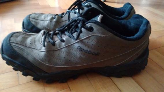 Zapatillas Reebok Cross City. Como Nuevas. Cuero Marrón