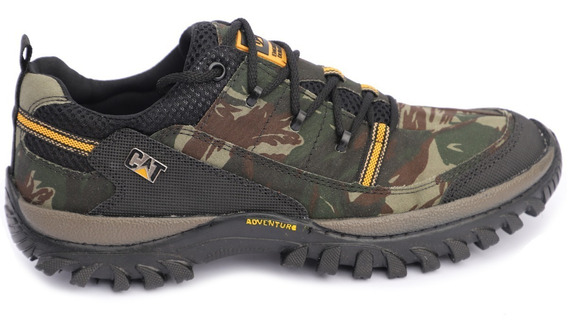 Bota Coturno Adventure Caterpillar Camuflada Original
