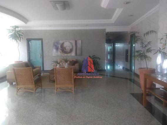 Apartamento Com 3 Dormitórios Para Alugar, 130 M² Por R$ 1.600/mês - Almirante Tamandaré - Centro - Americana/sp - Ap0756