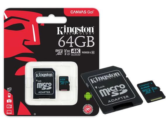 Cartao De Memoria Classe 10 Sdcg2/64gb Micro Sdxc 64gb 90r/45w Uhs-i U3 V30 Canvas Go