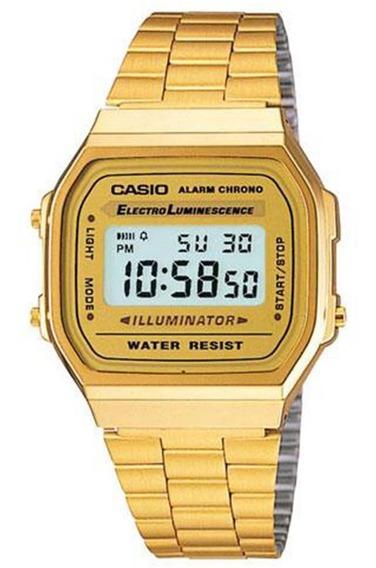 Relógio Masculino Casio Digital A-168wg-9wdf - Dourado