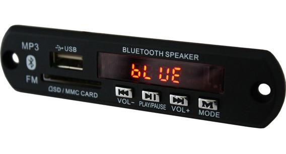 Placa P/ Caixa Amplificada / Ativa Mp3 Usb Sd Bluetooth Fm