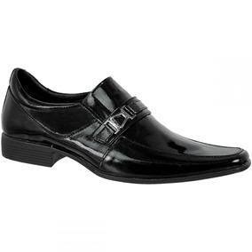 Sapato Social Masculino Envernizado Bmbrasil 100% Couro