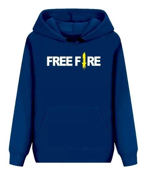 Blusa Frio Moletom Jogo Free Fire Personalize Com Seu Nick!