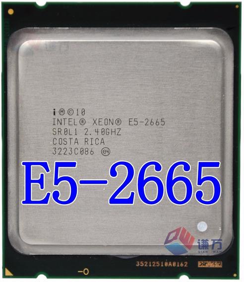 2x Unid Intel Xeon E5-2665 Octa Core 2.40ghz/20m/8.00gt/s