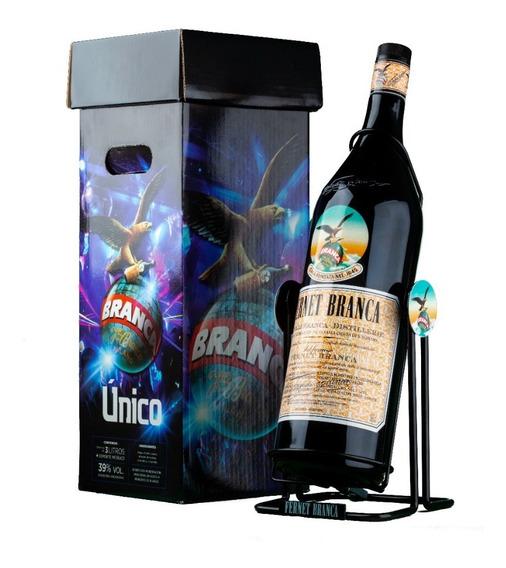 Fernet Branca 3 Litros C/ Soporte Metálico