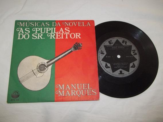 Vinil Compacto - Manuel Marques - Músicas Novela As Pupilas