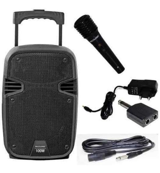 Caixa Som Amplificadora Multilaser 100w 8 Sp258 Bivolt