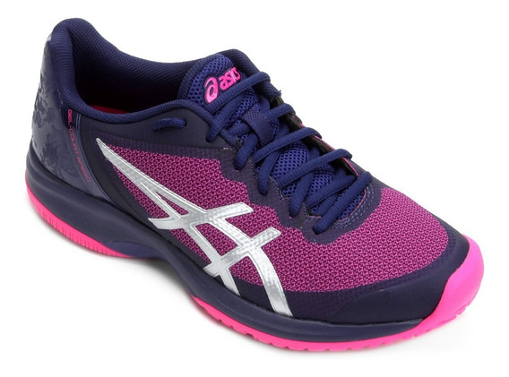 Tênis Asics Gel Court Speed Blue Print Pink Glo # Resolution