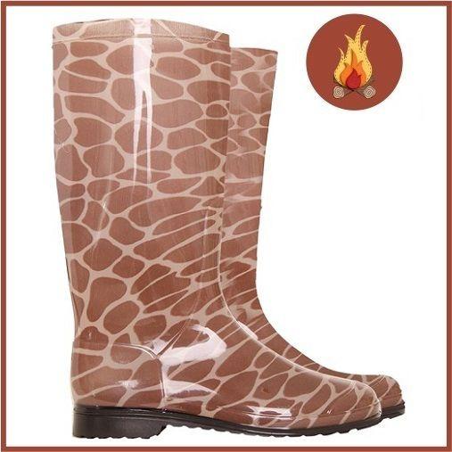 Galocha Girafa Marrom Calfor M35