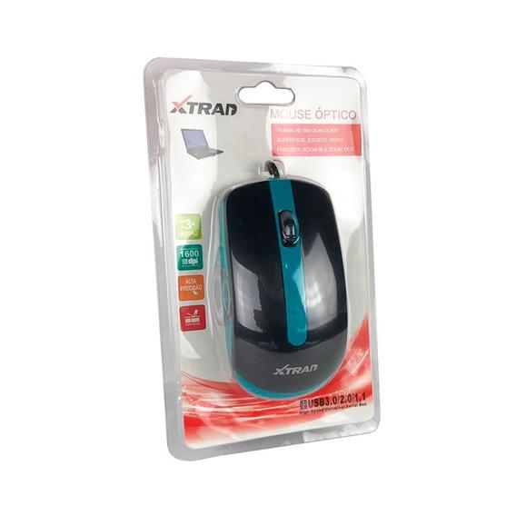 Mouse Óptico Usb Com Fio Gamer 2000dpi Barato Xd602