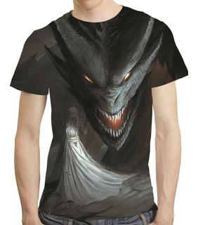 Camisa Série Game Of Thrones Camiseta Daenerys Targaryen 04