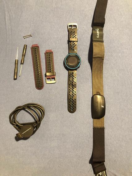 Relógio Garmin 620 Completo Com Uma Pulseira Adicional