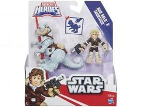 Boneco Star Wars Disney Scout Trooper Speeder Bike Han Solo