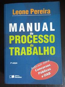 Livro Manual De Processo Do Trabalho
