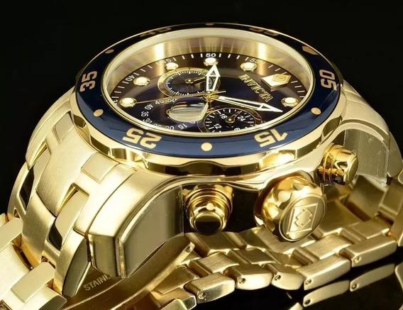 Relógio Invicta Pro Diver 21923 0073 Banhado Ouro Original