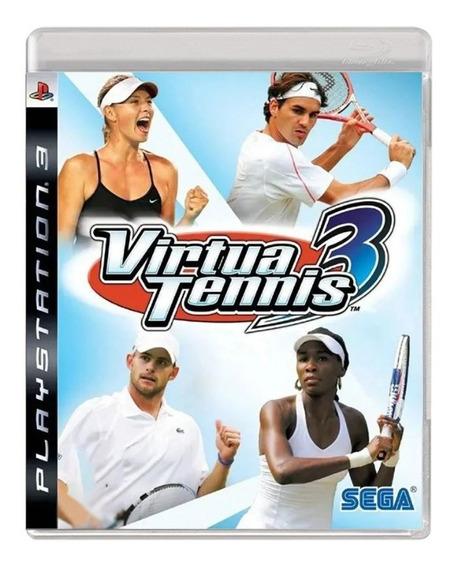 Virtua Tennis 3 - Ps3 - Usado - Original - Mídia Física