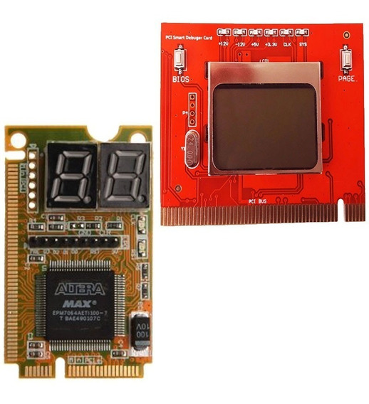 Kit 2 Tester Mother Placa Diagnostico Post Card Smart + Lcd